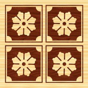 drewniane rozety